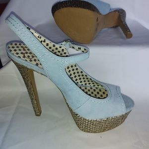 Powder Blue Platform Heels